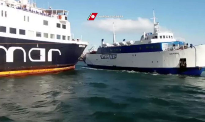 Ferries collided in Italy